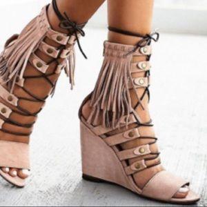Free People solstice summer sandal. Like new!